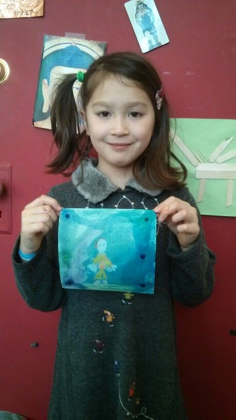 Watercolor resist in the Art Discovery Center - now through 12/31/2014.