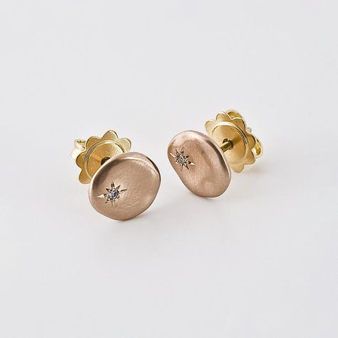 sterling silver stud earrings simple earrings 5mm cube classic Mackenzie rose gold studs Cube earrings geometric studs