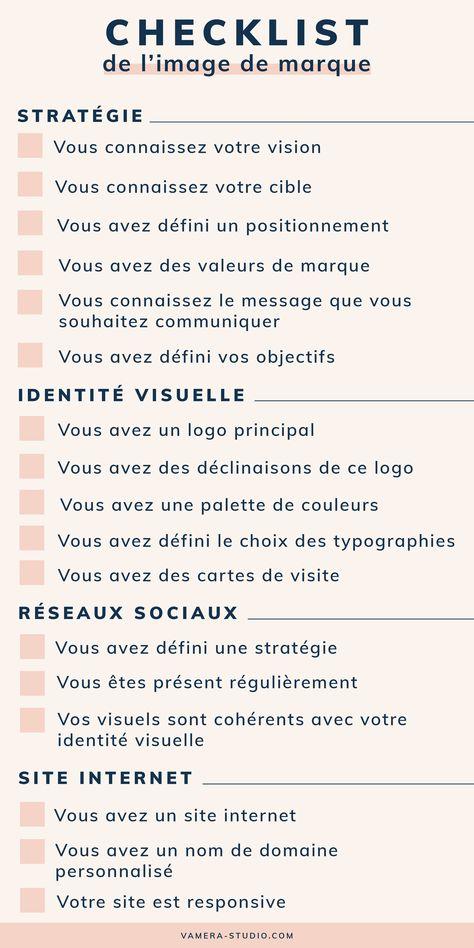 La checklist indispensable pour créer une marque percutante !
