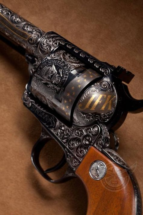 JFK's personal Colt New Frontier. Sadly he was assassinated before it was presented to him.