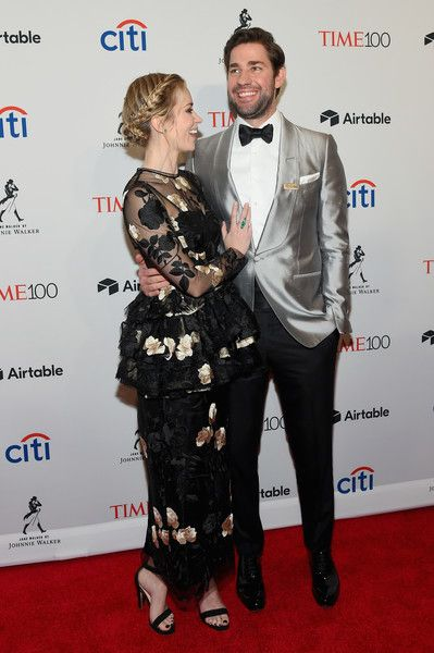 Actors Emily Blunt and John Krasinski attend the 2018 Time 100 Gala.