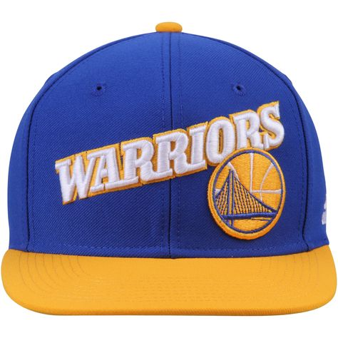 best service c8101 4d6a2 Golden State Warriors adidas Two-Tone Stretch Adjustable Snapback Hat -  Royal Gold