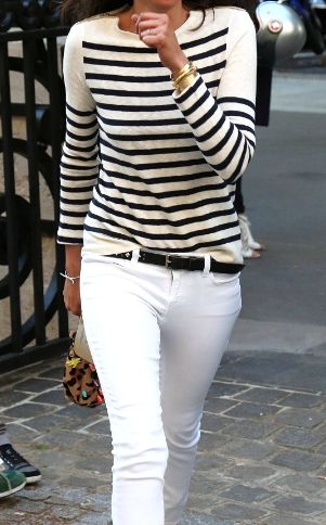 stripes + white