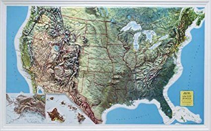 Image result for usa map highest and lowest elevation ...