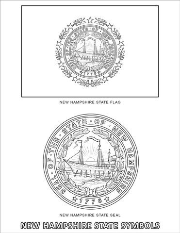 New Hampshire State Symbols Coloring Page In 2020 Symbols New