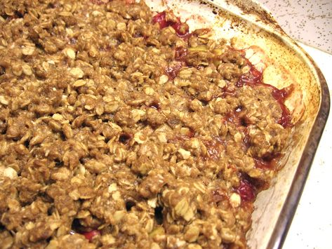 Apple Pear Cranberry Crisp, use gluten-free oats