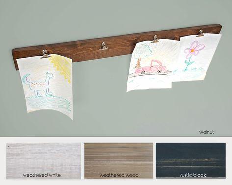 Kids Artwork Display Art Board Childs Hanger With Clips School