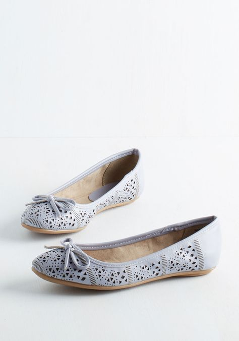 Perform Follows Function Flat in Periwinkle | Mod Retro Vintage Flats | ModCloth.com