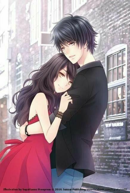 Romantic Anime Hug : romantic, anime, Wallpaper, Hugging, Romantic, Anime, Couple
