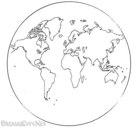 رسومات متنوعة للكرة الارضية لوحات عادية وملونة Drawing World Map Sketch World Map Map Sketch