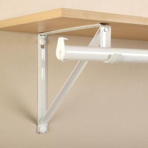 John Sterling RP-0045-WT Shelf And Rod Closet Bracket White