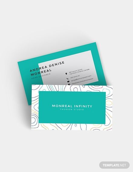 Fashion Designers Are In For A Good Treat When They Use This Template It Bears A Mode Business Cards Creative Templates Business Cards Creative Visiting Cards