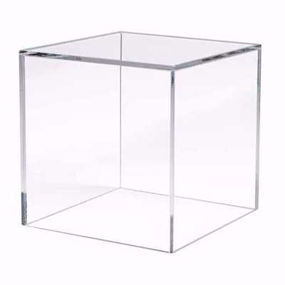 5 Sided Acrylic Cube 12 In 2020 Glass Display Box Cube Side Table Retail Fixtures