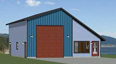 34x42 1 Rv Garage 1 Bedr 1 Bath 1 400 Sq Ft Pdf Floor Plan Model 2d Rv Garage Garage Door Design Garage House Plans