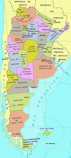 Mapa De Argentina Provincias.Infoplanetas Mapa De La Republica Argentina Con Div