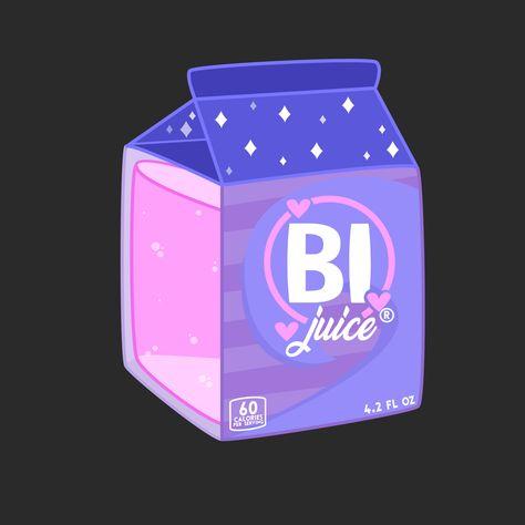 """Bi Juice Sticker by Rexuality - White Background - 3""""x3"""""""