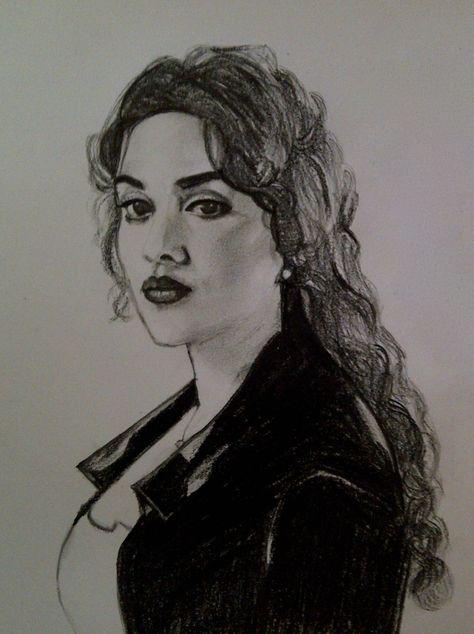 Kate Winslet - charcoal on paper (rose dewitt bukater titanic)  artist - Pritika Uppal