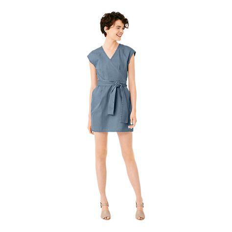 Wrap-It-Up Dress in Denim - Kate Spade Saturday