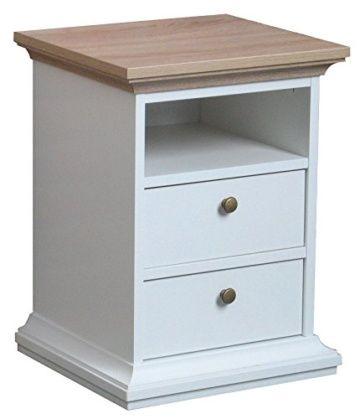 Nachttisch Weiß Holz