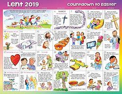 Lent 2019 Calendar For Children Kids Calendar Easter Event