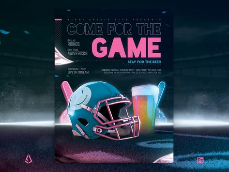 Football Game Flyer v9 Super Bowl Party Template
