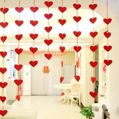#3m #DIY #Floral #garland #Hanging #Heart #Ornaments