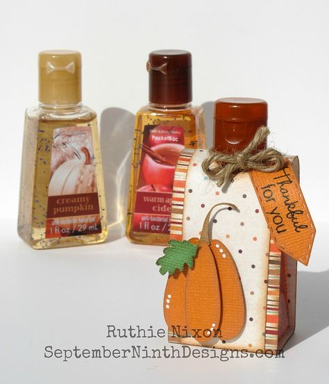 Fall Hand Sanitizer Thanksgiving Favors Fall Gift Baskets Fall