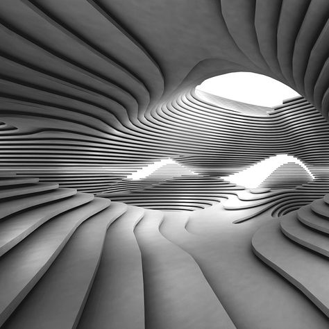 Potrero Hill Branch Library, SF, CA, by architect Khoa Vu. Parametric Architecture, Parametric Design, Organic Architecture, Futuristic Architecture, Amazing Architecture, Interior Architecture, Conceptual Architecture, Zaha Hadid Architecture, Architecture Student