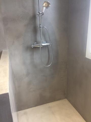 douche italienne beton