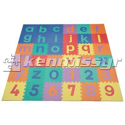 Closeout 36 Sq Ft Lowercase Abc 123 Kids Foam Puzzle Play Mat Eva Floor Mats Childrens Play Mat Lowercase Abc Play Mat