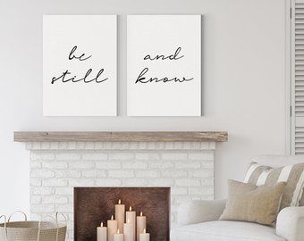 Be Still And Know Canvas Art Above Bed Artwork Bedroom Art