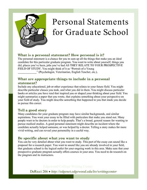 Sample Personal Statements Graduate School   Personal Statements for Graduate School