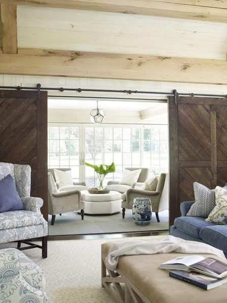 Interior Barn Doors By Amy Aidinis Hirsch Interior Design Llc House And Home Magazine Interior Barn Doors Home
