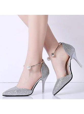| 9cm Glitter High Heels Sequins Scarpins Pumps
