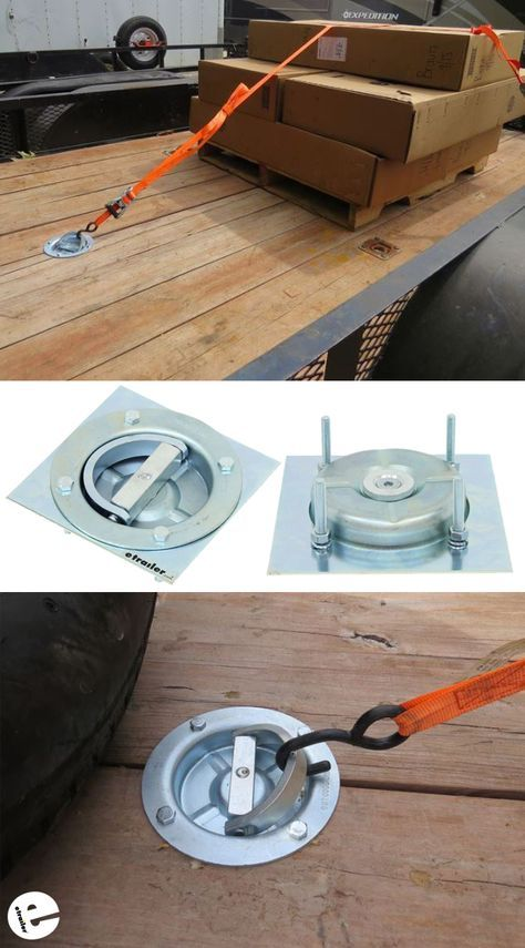 Brophy Swiveling D Ring Anchor W Backing Plate And Hardware Bolt