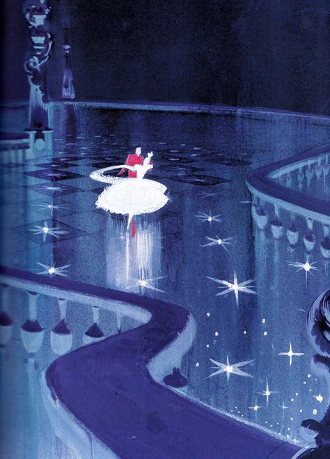 Mary Blair's concept drawings for Cinderella (1950)