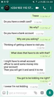 Romance scammer photos