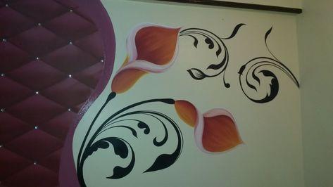 كيفية رسم وردة مع استنسل 3d Wall Painting Painting Lessons Paper Crafts Diy