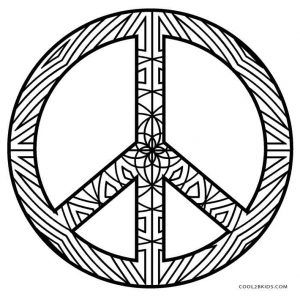 Free Printable Peace Sign Coloring Pages | Cool2bKids ...