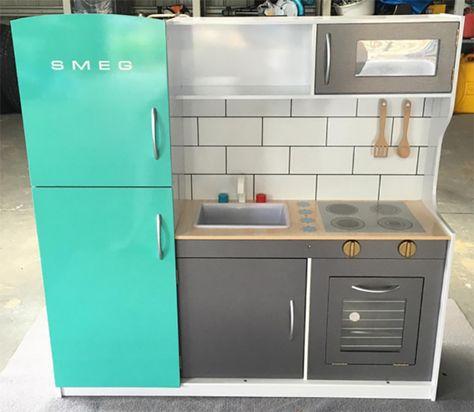 mint smeg so cute the best hacks of the kmart kids kitchen in 2019 kids play kitchen kmart on kitchen ideas kmart id=47446