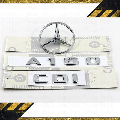 Mercedes Benz S320—Rear Trunk Letter Nameplate Emblem