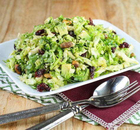 Shaved Brussels Sprouts Salad with Citrus Vinaigrette ~ http://www.garnishwithlemon.com