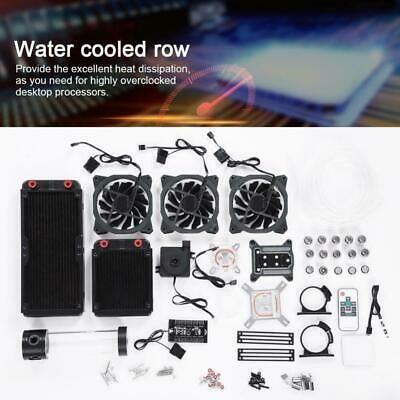 144 28 Diy Pc Liquid Water Cooling Kit 175mm Radiator Pump Reservoir Cpu Block Heatsink Ing