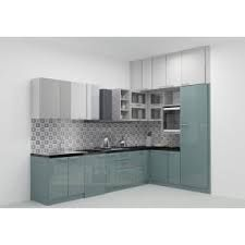Modular Lshaped Kitchen With Dual Color Combination Consisting Stunning Modular Kitchen L Shape Design Inspiration
