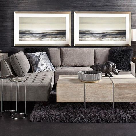 LAST DAY to save on your favorite fall essentials during our Buy More, Save More Event! Our fan-fave American-made, urban contemporary Vapor Sectional is 20% OFF for one more day. Link in bio to shop the look!