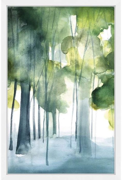 Marmont Hill 'Green Grove' by Christine Lindstrom Framed Painting Print