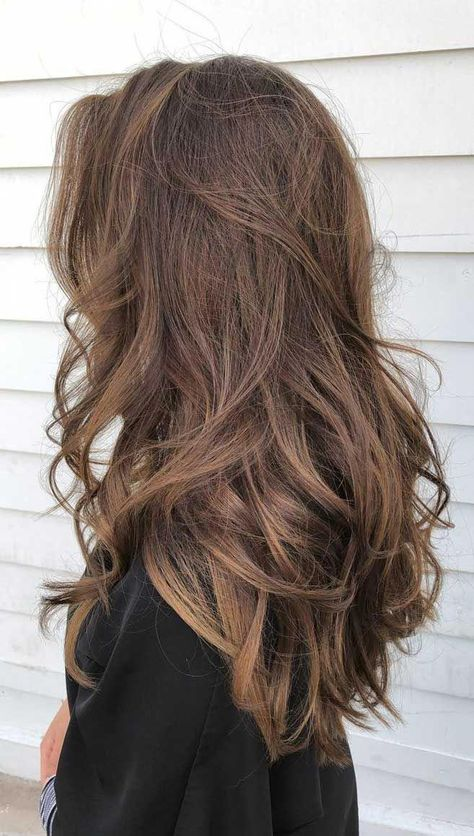 49 Beautiful Light Brown Hair Color To Try For A New Look Gorgeous Balayage Hair Color Ideas - brown Balayage Highlights,Beachy balayage hair color Hair 49 Beautiful Light Brown Hair Color To Try For A New Look - Fabmood Brown Wavy Hair, Brown Hair Balayage, Hair Color Balayage, Ombre Highlights, Carmel Brown Hair, Natural Hair Color Brown, Pretty Brown Hair, Beautiful Brown Hair, Light Brown Highlights