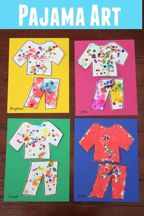 Pajama Name Matching Activity for Kids