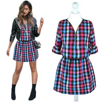 Sukienki Moda Damska Na Allegro Pl Fashion Women S Plaid Shirt Women
