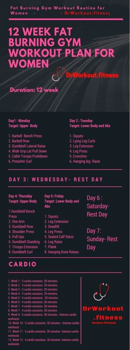 Fitness Exercises Workout 12 Weeks 57 Super Ideas Fitness Exercises Workout Plan For Women Gym Workout Plan For Women Workout Plan Gym